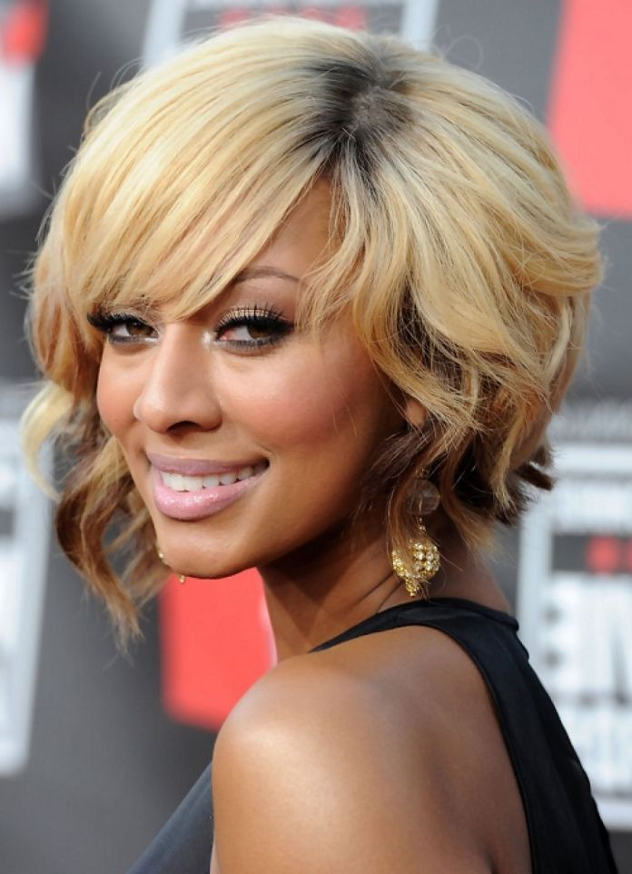 Medium-Curled-African-American-Hairstyle Best African American Hairstyles with Color