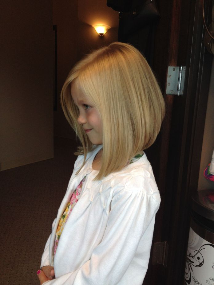 Mid-Part-Straight-Hairstyle Cute and Adorable Little Girl Haircuts