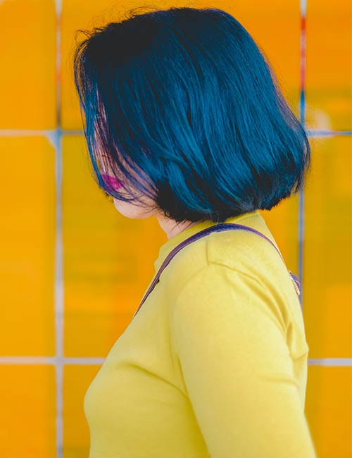 Midnight-Blue Fabulous Hair Colors To Beat The Heat This Summer