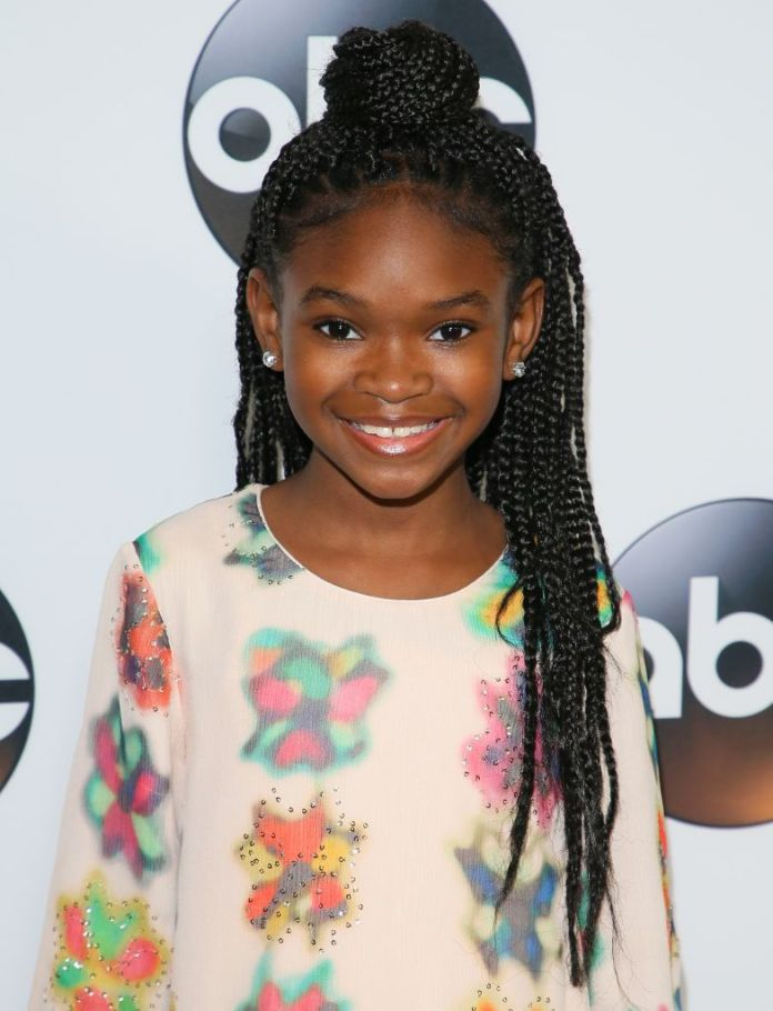 Numerous-Thin-Braids-in-Jet-Black-Long-Hair Cutest African American Kids Hairstyles