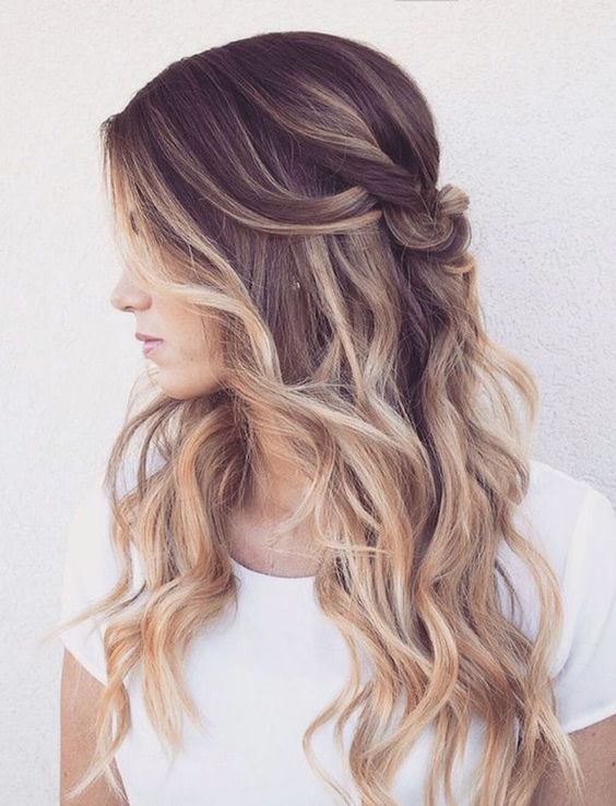 Ombre-Waves Elegant Hairstyles for Women