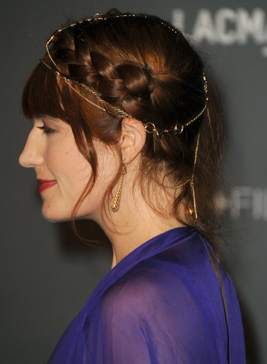 Plaited-Hairdos-with-Headband Best Hippie Hairstyles