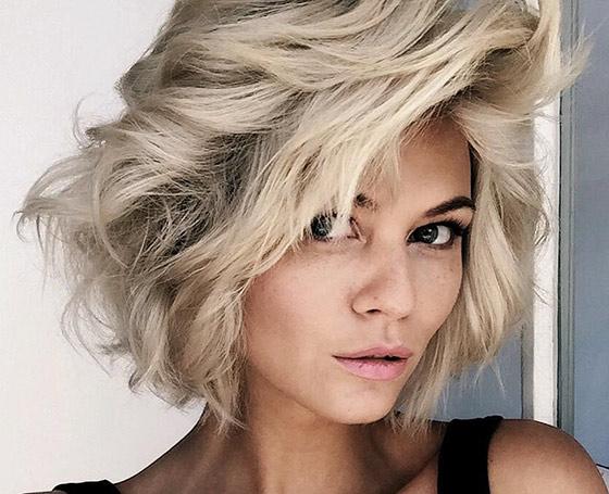 Platinum-Short-Shag-Layers Layered Hairstyles With Bangs