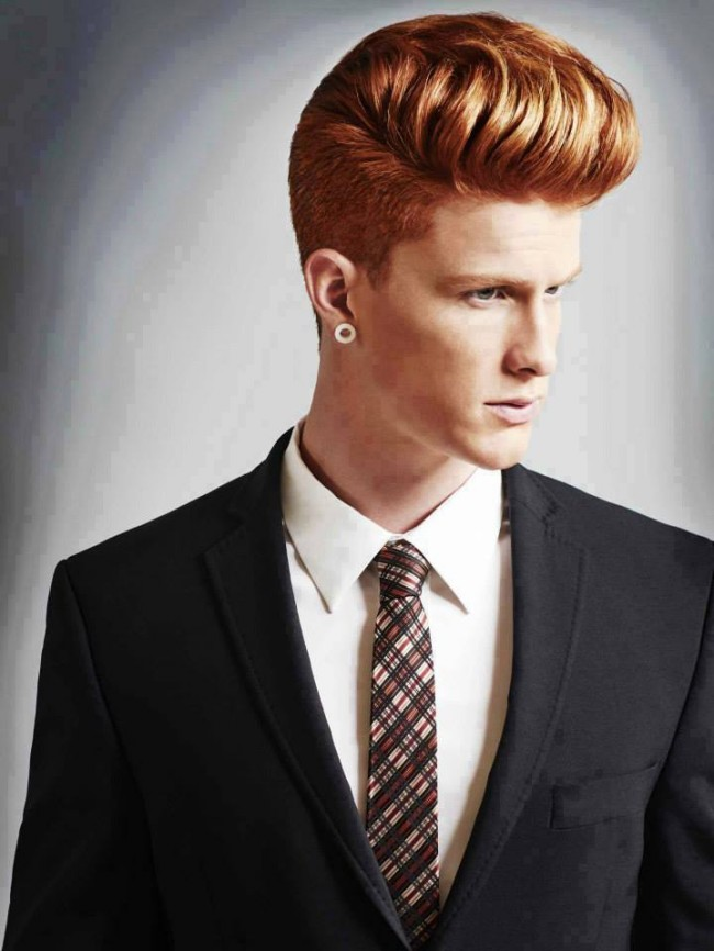 Ridged-Comb-Over-Hairstyle Ultra Dashing Medium Hairstyles for Boys