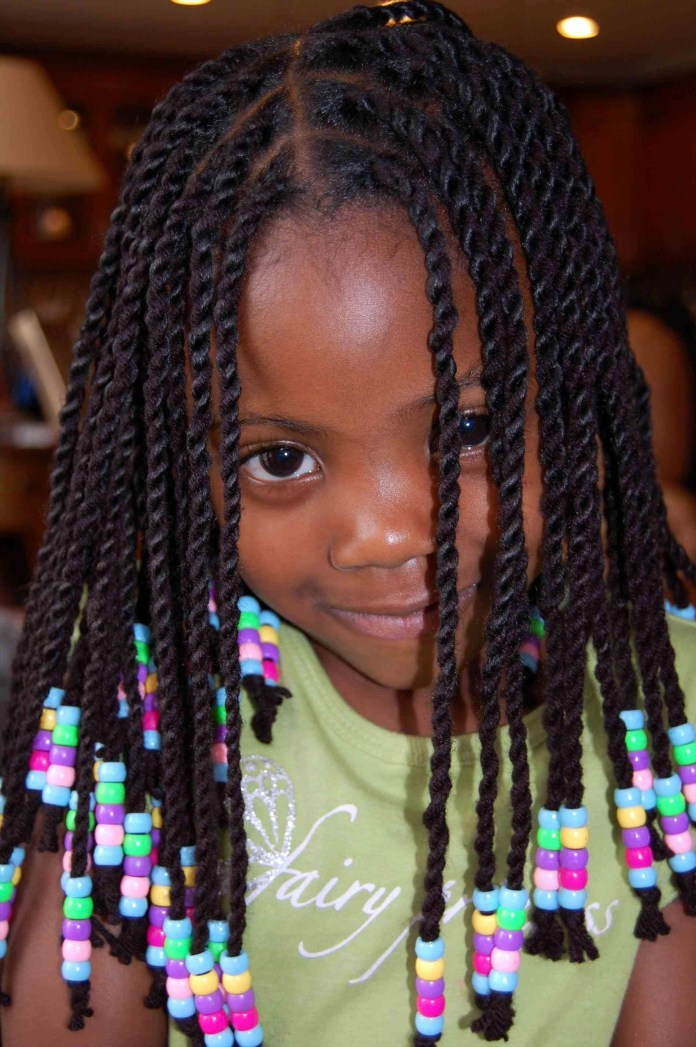 Roped-Looked-Cornrow-Hair-Strands Cutest African American Kids Hairstyles