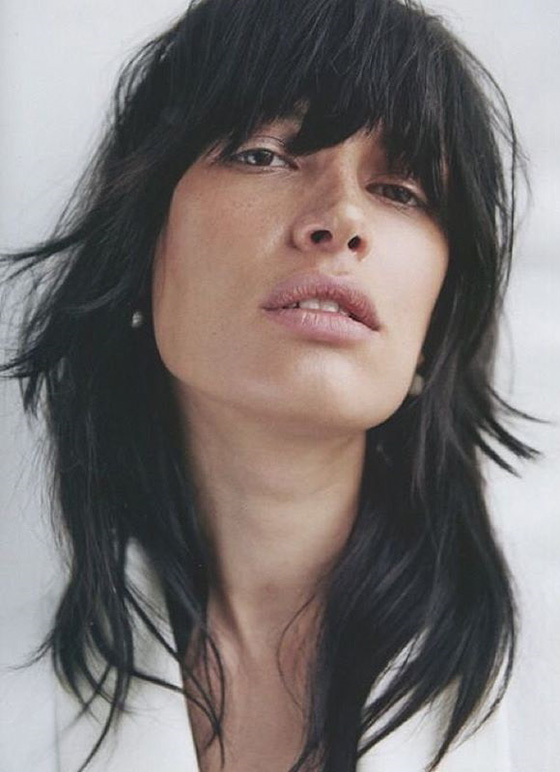 Rough-And-Shaggy-Layers-And-Bangs Layered Hairstyles With Bangs