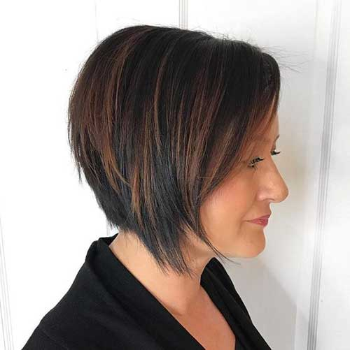 Short-Bob-Hairstyle-for-Over-40 Best Short Haircuts for Over 40