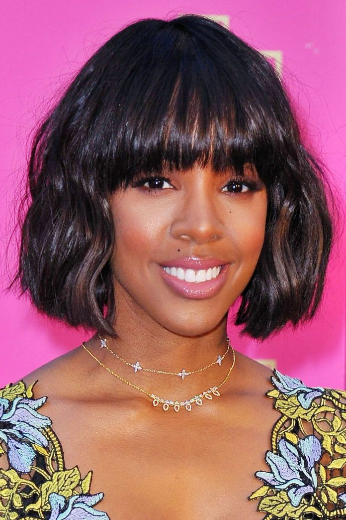Short-Bob-with-Fringes-and-Flirty-Waves Exclusive African American Bob Hairstyles