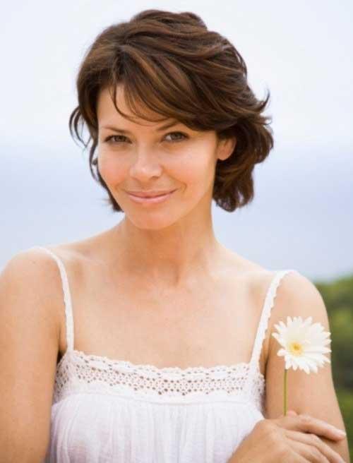 Short-Brown-Haircut-for-Women-Over-40 Short Hair For Over 40