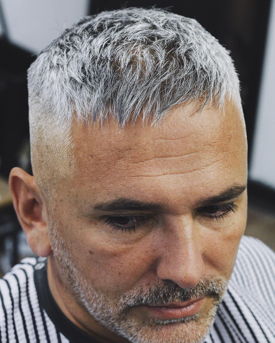 Short-Faded-Haircut Grey Hairstyles for Men to Look Smart and Dashing