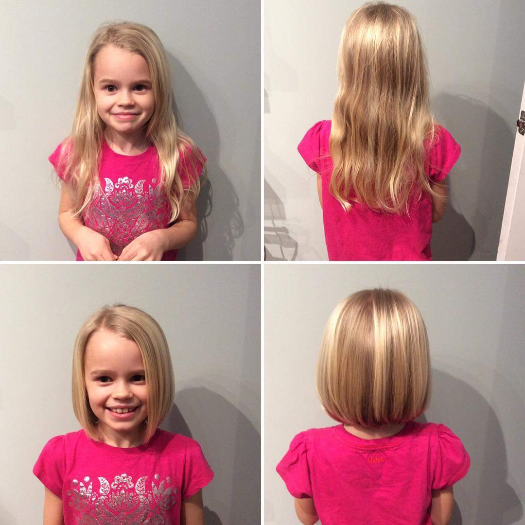 Sleek-and-Straight-Hairstyle Cute and Adorable Little Girl Haircuts