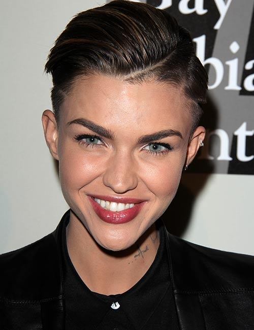 Slick-Side-Parting Celebs With Stunning Short Hairstyles
