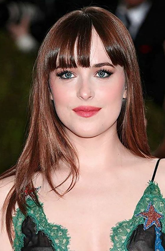 Straight-Hair-And-Bangs Layered Hairstyles With Bangs