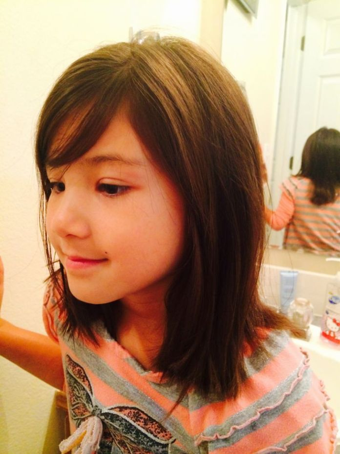 Summer-Straight-Hairstyle Cute and Adorable Little Girl Haircuts