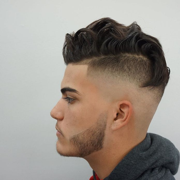 Wavy-Texture-with-Bald-Fade Ultra Dashing Medium Hairstyles for Boys
