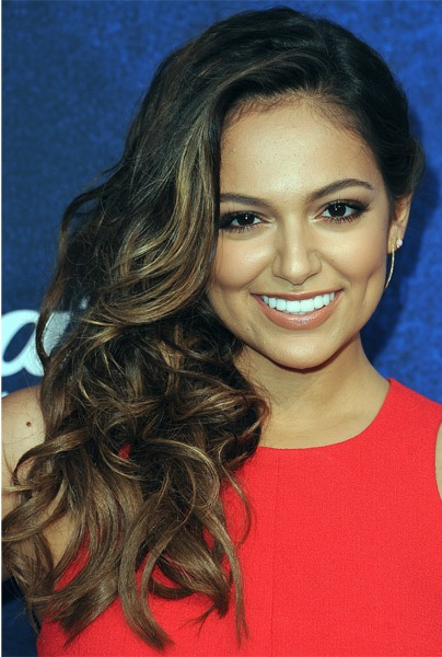 Bethany-Mota-Long-Curly-Hairstyle Most Beautiful Celebrity Long Haircuts To Adore