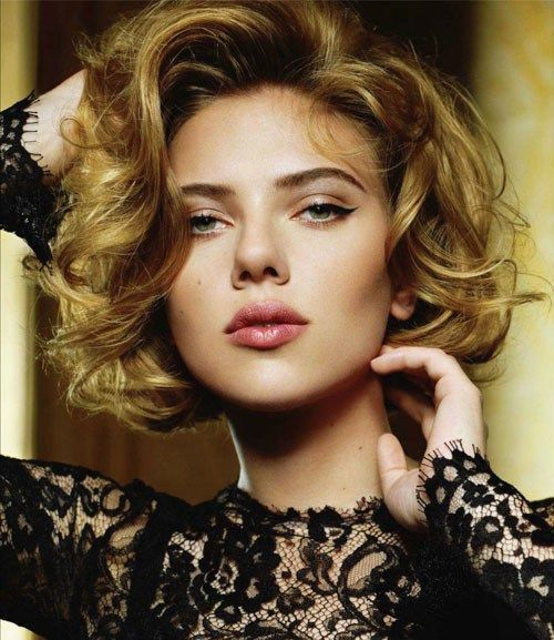 Blonde-Curly-Bob-Hairstyle Stylish and Glamorous Curly Bob Hairstyle for Women