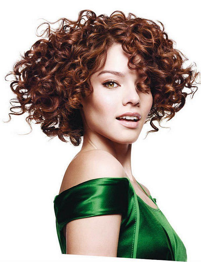 Curly-Bob-Hair Stylish and Glamorous Curly Bob Hairstyle for Women