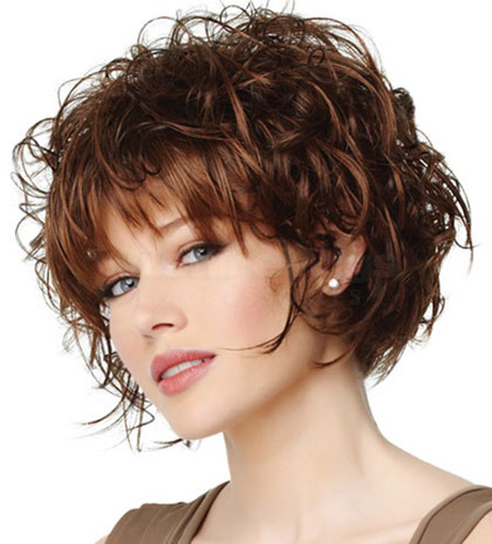 Curly-Bob Stylish and Glamorous Curly Bob Hairstyle for Women