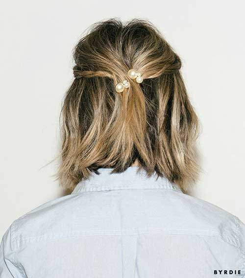 Easy-Updos-for-Short-Hair-4 Really Stylish Easy Updos for Short Hair