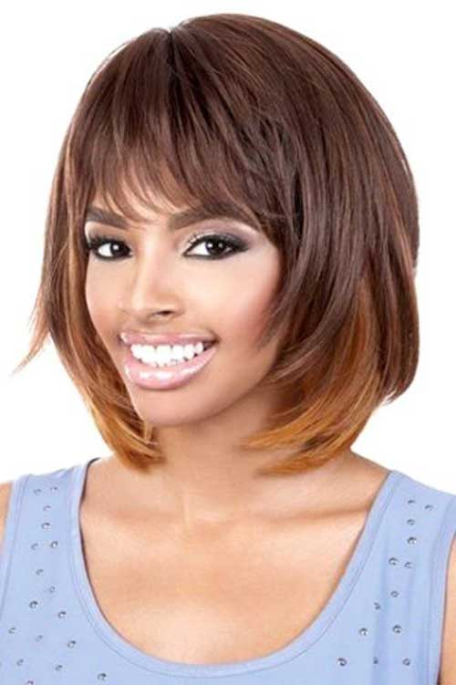 Layered-Bob-Haircut-with-Bangs Stylish and Perfect Layered Bob Hairstyles for Women