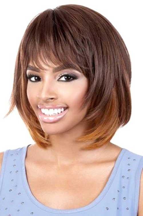 Layered-Bob-Haircut-with-Bangs Stylish and Perfect Layered Bob Hairstyles for Women