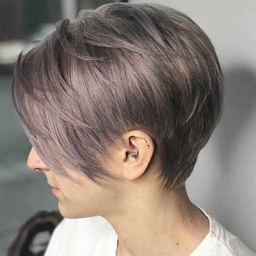 Long-Pixie-Style Super Cute Short Hairstyles for Fine Hair