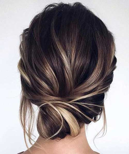 Low-Bun-Style Really Stylish Easy Updos for Short Hair