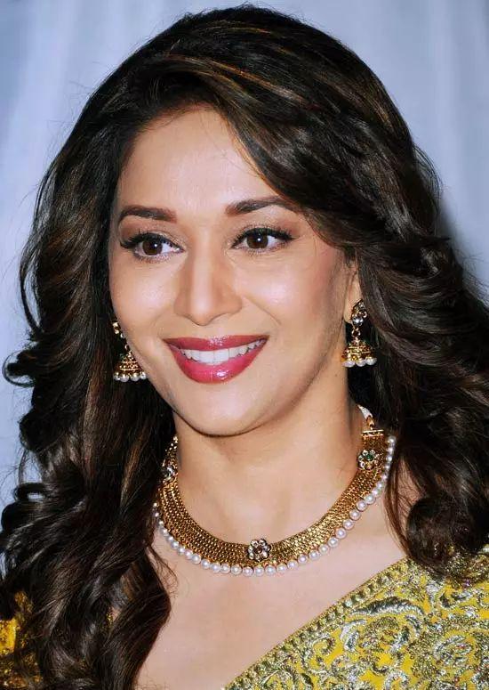 Madhuri-Dixit Top Indian Actresses With Stunning Long Hair