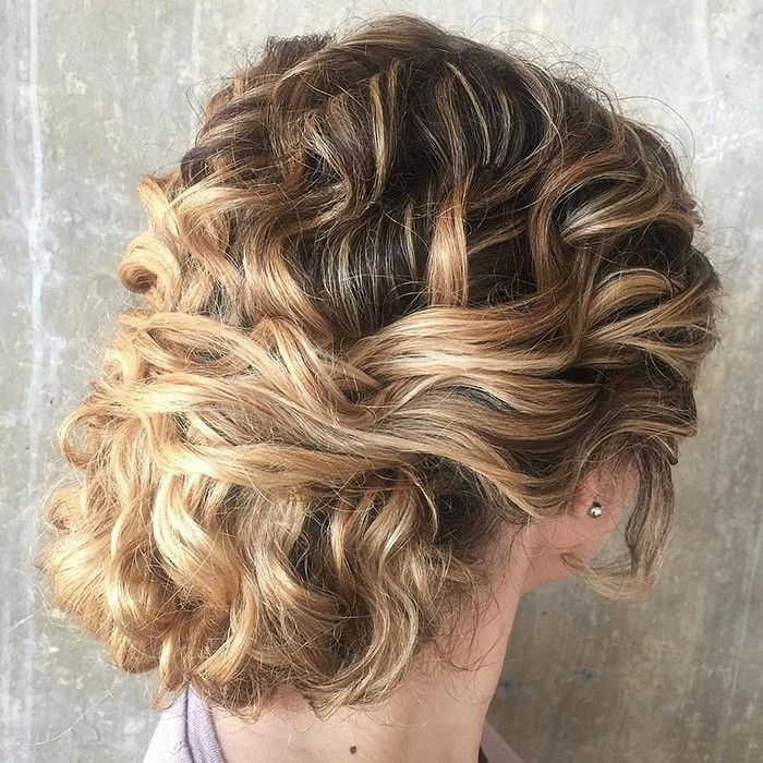 Messy-Curly-Chignon-Hairstyle Most Gorgeous Looking Chignon Hairstyles