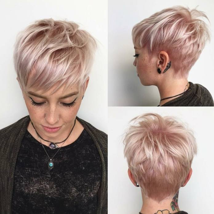 Pixie-Cut-with-Side-Swept Everyday Short Hairstyles for Fabulous Look
