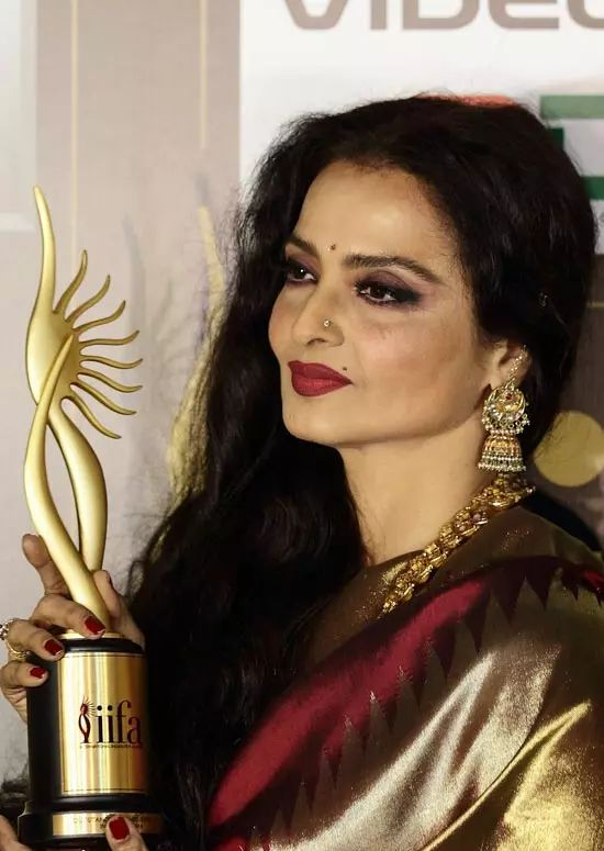 Rekha Top Indian Actresses With Stunning Long Hair