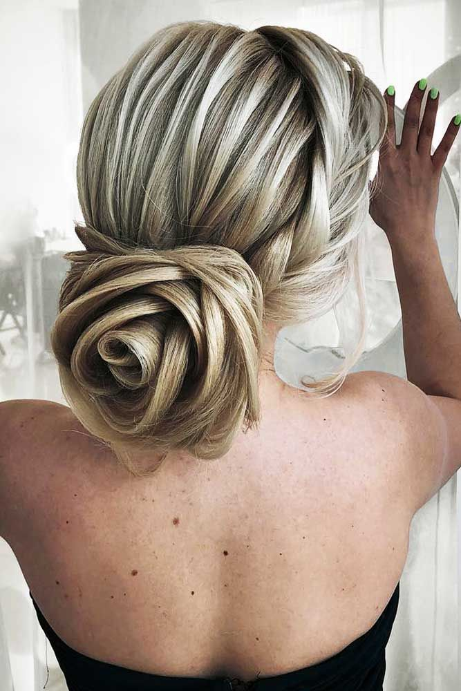 Rose-Design-Hairstyle Most Gorgeous Looking Chignon Hairstyles