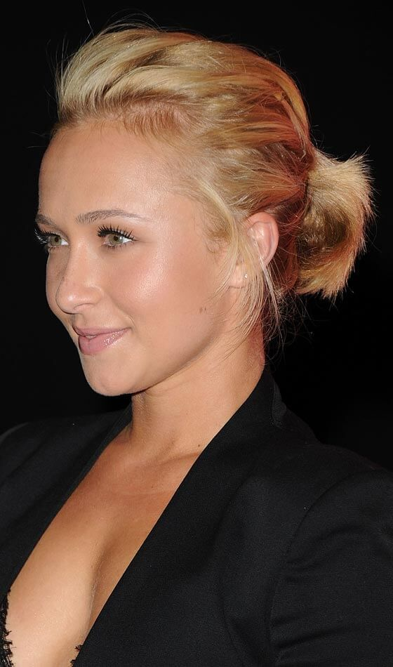 Short-Ponytail-Hairstyle Celebrity Short Hairstyles for Glamorous Look