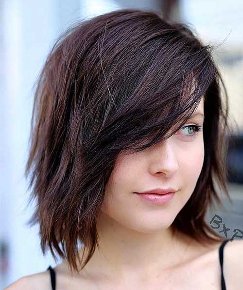 Side-Layers-Bangs Latest Pictures of Short Layered Haircuts