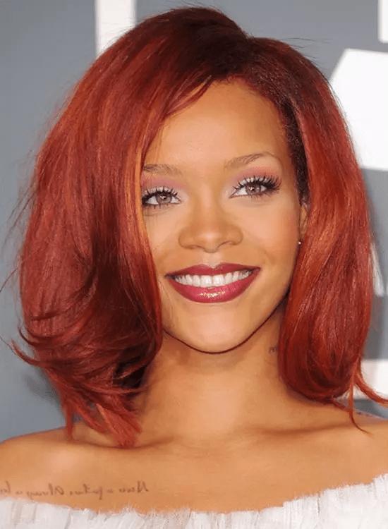 Sleeky-Blunt-Bob Best Rihanna Hairstyles