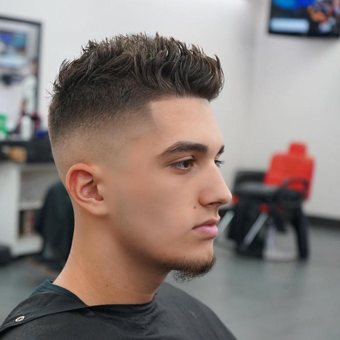 Spike-Fade-Crew-Cut Most Dynamic and Dashing Crew Cut for Men