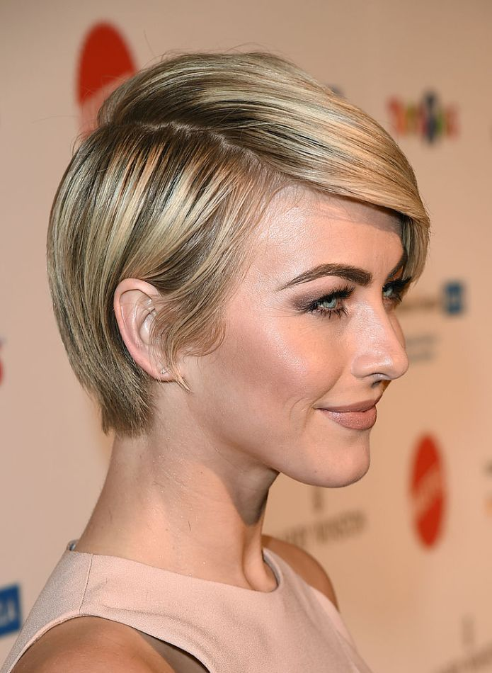 Straight-Long-Pixie Celebrity Short Hairstyles for Glamorous Look