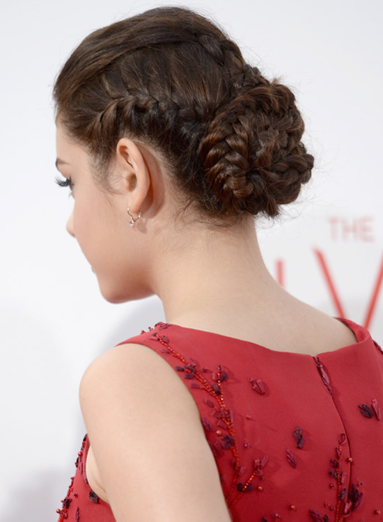 Tight-Braided-Bun-With-Puff Bridal Hairstyle Ideas For Your Reception