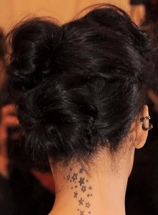 Tucked-In-Bun Best Rihanna Hairstyles