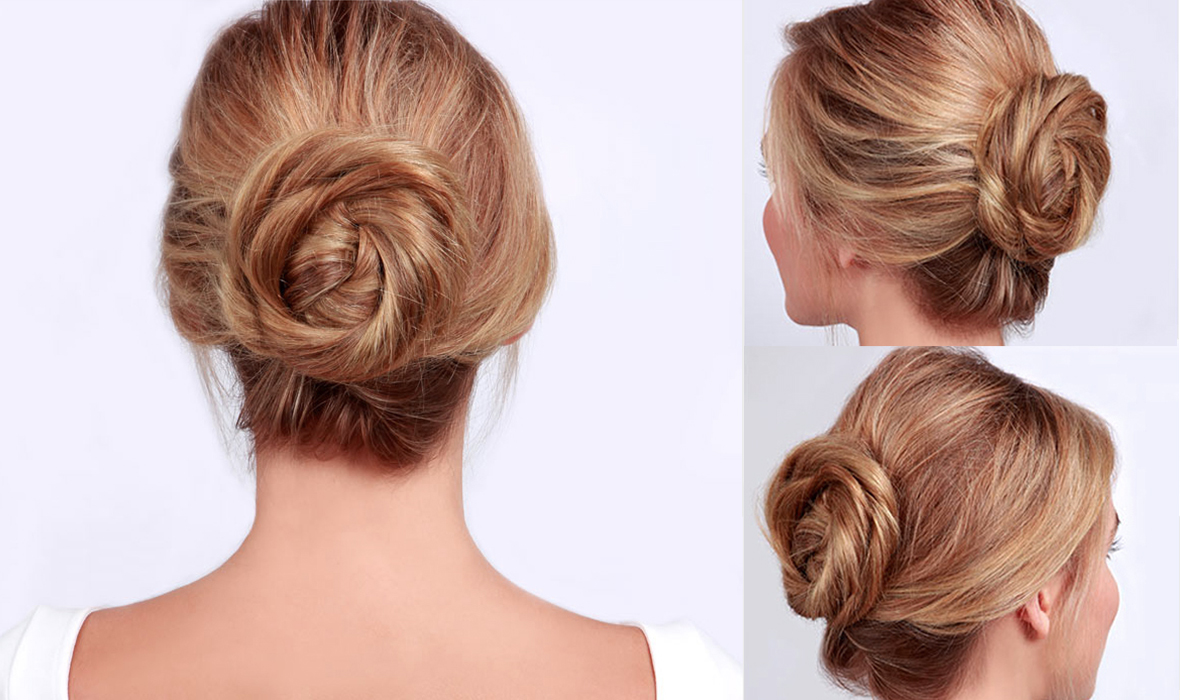 Twisted-Roll-Chignon-Hairstyle Most Gorgeous Looking Chignon Hairstyles