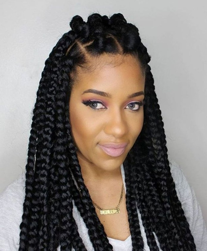 Braiding-to-Form-a-Square Most Coolest Twist Hairstyles for Amazing Look