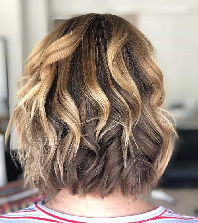 Caramel-Bob-with-Blonde-Highlights Exotic Messy Bob Hairstyles That Women Love