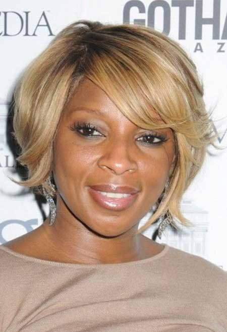 Charming-and-Lovely-Asymmetric-Bob-Hair Short Hairstyles for Black Women 2020