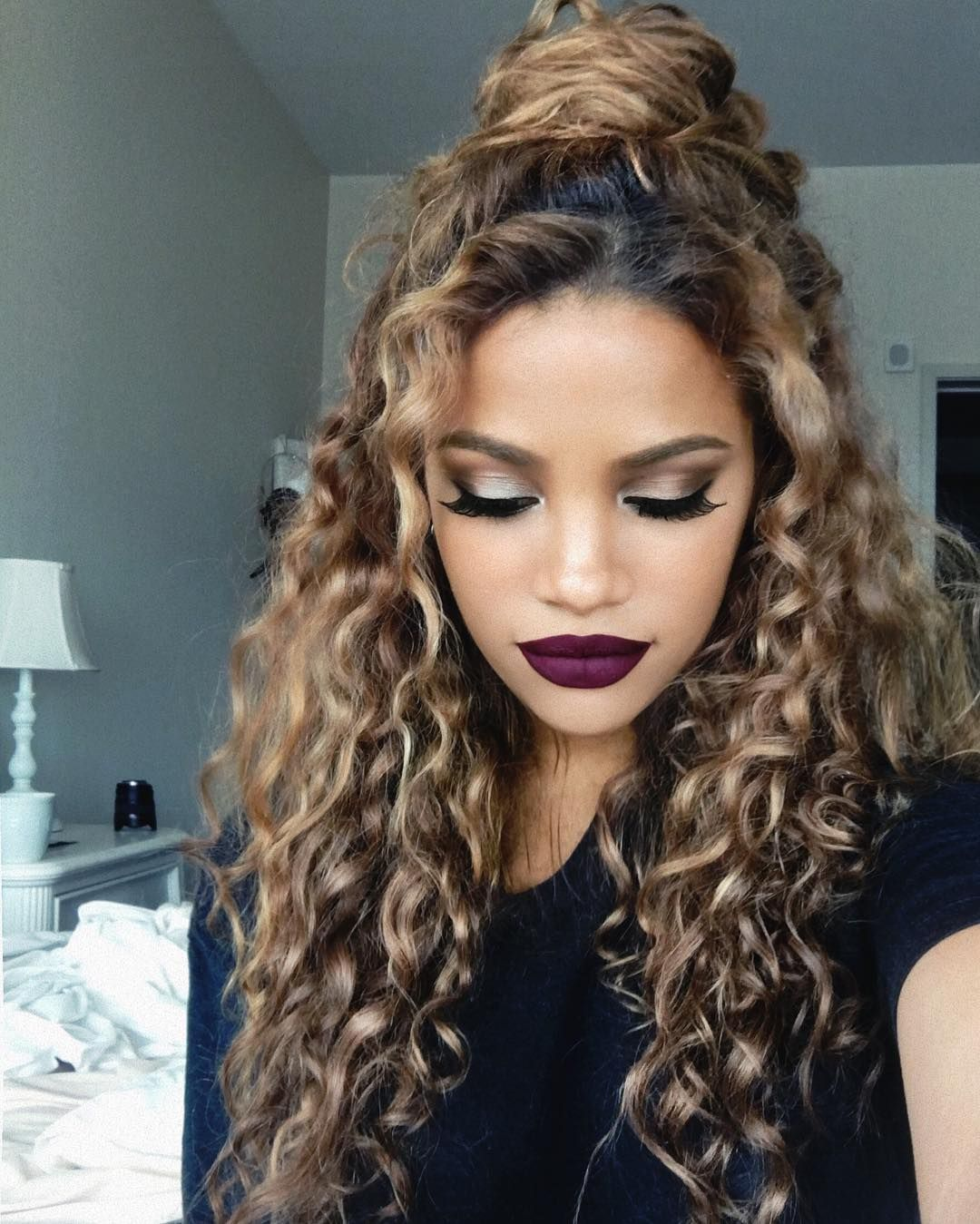 Curly-Hairstyle-for-Natural-Hair Cute Curly Hairstyles for Women