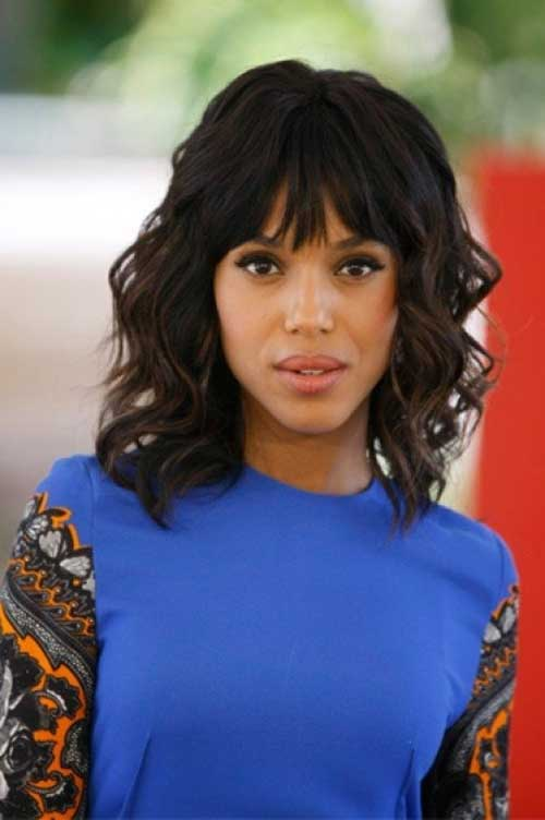 Cute-Wavy-Short-Haircut-with-Bangs-For-Black-Women New Short Hairstyles With Bangs For Black Women