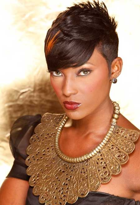 Funky-and-Exciting-Pixie-Cut-with-Little-Spikes-at-the-Top Short Hairstyles for Black Women 2020