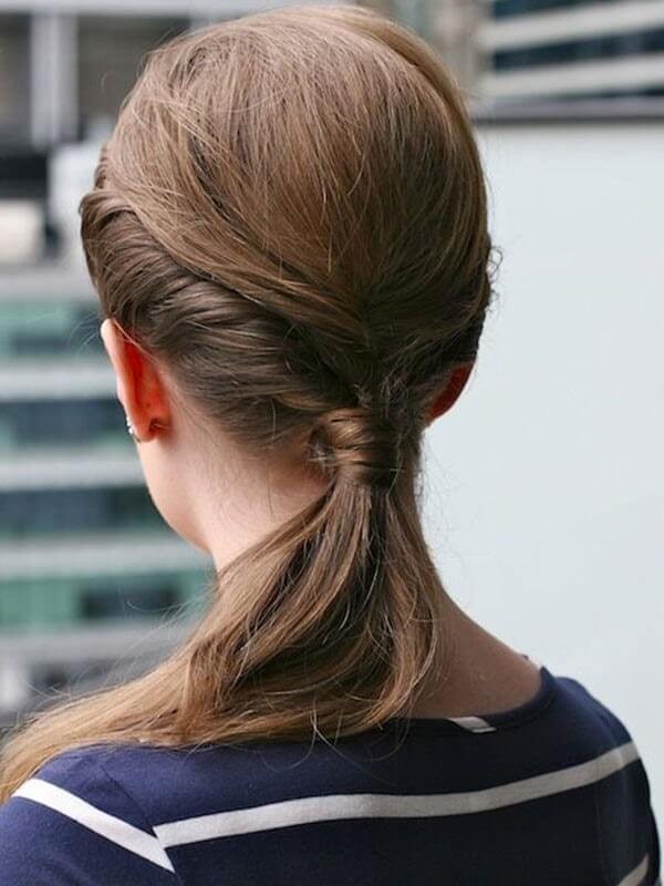 Hair-Knot-with-a-Triple-Tipsy Hot and Happening Girls Hairstyles for Party