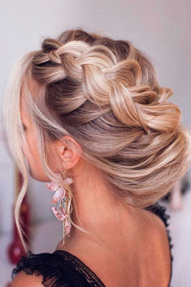 Long-Braided-Loose-Updo- Cute Homecoming Hairstyles for Astonishing Look