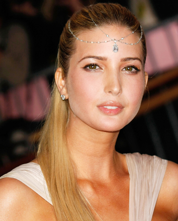 Pulled-Back-Ponytail Very Attractive Ivanka Trump Hairstyles